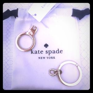 NWT Kate Spade Empty Key Ring Key Chain 14K Gold